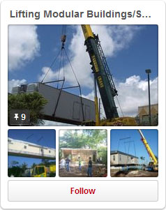 Lifting Modular Buildings/Sheds